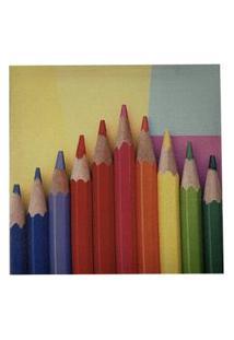 Quadro Lapis Color Decora Sala Escritorio Tela Tecido Lona
