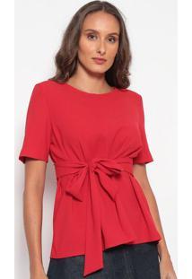 Blusa Com Laço - Vermelhadudalina