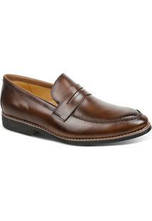 Sapato Masculino Linha Premium Loafer Sandro Moscoloni 16116 Marrom Escuro