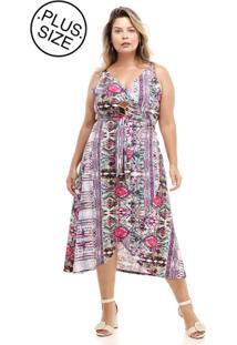6ae5060bc ... Vestido Melinde Plus Size Envelope Lycra Pink