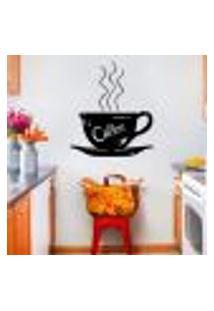 Adesivo De Parede Para Cozinha Modelo Xícara De Café 4 - Pequeno