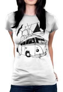 Camiseta Baby Look Hshop Kombi Branco