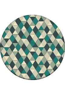 Tapete Love Decor Redondo Wevans Illusion Triangle Verde 94Cm