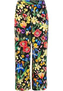 Chinti And Parker Calça Com Estampa Floral - Preto