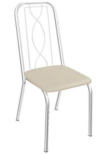 Cadeira Kappesberg Viena 4C072 (4 Unidades) Cromada/Nude