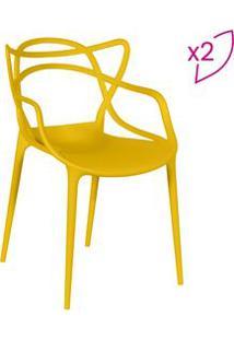 Or Design Jogo De Cadeiras De Jantar Solna Amarelo 2Pã§S