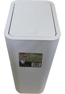 Lixeira 15,6 Cm B931 Branco Basic Kitchen