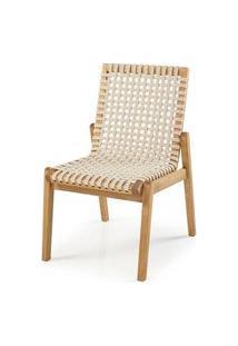 Cadeira Trama Corda Areia Estrutura Stain Jatoba 52Cm - 60361 Jatoba