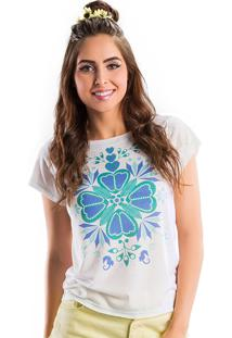 T-Shirt La Mandinne Estampa Localizada Branco