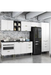 Cozinha Completa 10 Peã§As Americana Multimã³Veis 5658Mf Branco/Grafite - Branco/Incolor - Dafiti