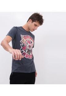 Camiseta Com Estampa Guns N' Roses