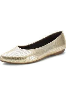 Sapatilha Scarpan Calçados Finos Cobra Ouro Light