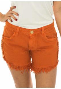 Shorts Capim Canela Confort Gel Laranja