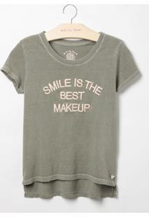 Blusa Le Lis Blanc Petit Smile Malha Verde Feminina (Bamboo, 10)