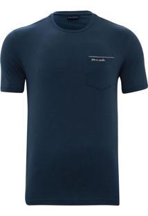 Camiseta Com Bolso Modern Índigo