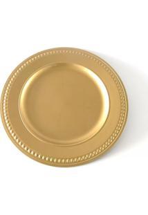 Sousplat Em Plástico Le Dost Gold Dourado 33Cm