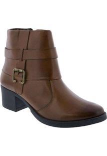 Ankle Boot Penélope Salto Bloco Detalhe Em Fivela
