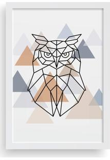 Quadro Love Decor Decorativo Com Moldura Coruja Escandinavo