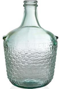 Garrafa Decorativa Em Vidro Transparente Colonial 12 Litros
