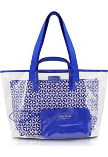 Kit De Bolsa 3 Em 1 Geométrica Jacki Design Étnica Azul - Kanui
