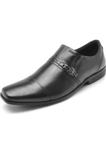 Sapato Social Couro Ferracini Liso Preto