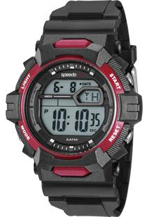 Kit De Relógio Digital Speedo Masculino + Carregador - 11017G0Evnp1K 9611376 Preto