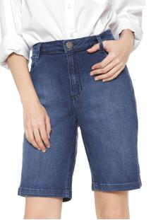 Bermuda Jeans Dudalina Reta Estonada Azul