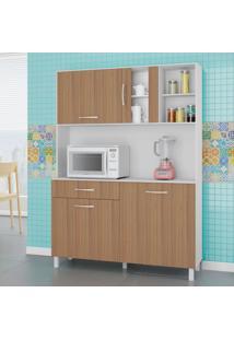 Cozinha Compacta Viena 4 Pt 1 Gv Branco E Montana 120Cm