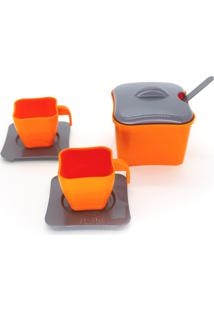 Brinquedo De Cozinha - Mini Xícaras E Açucareiro 7 Peças - Para Meninos E Meninas - Samba Toys - Kanui