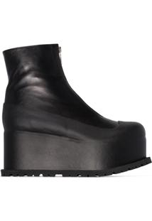 Sacai 80Mm Platform Ankle Boots - Preto