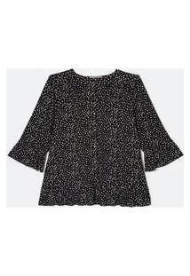 Blusa De Jersey Com Botões E Babados Curve & Plus Size