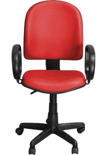Cadeira Pethiflex Pegbp Giratória Couro Vermelho
