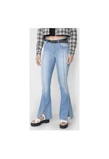 Calça Jeans Forever 21 Flare Estonada Azul