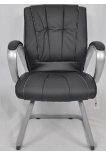Cadeira De Escritório Fixa Cx0078V01 Bric Couro Pu Preto