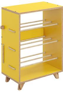 Sapateira Cordel 3 Níveis Amarelo Be Mobiliário - Tricae
