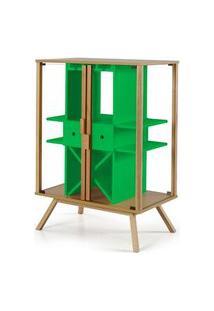 Cristaleira Mystic Cor Natural Com Verde - 29110 29110