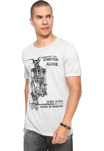 Camiseta John John Forever Alone Cinza