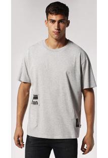 Camiseta Diesel T-Wallace Rb Masculina - Masculino-Cinza