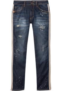 Calça John John Slim Floripa 3D Jeans Azul Masculina (Jeans Escuro, 40)