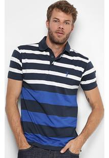 Camisa Polo Aleatory Listrada Masculina - Masculino