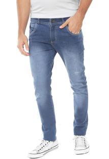 Calça Jeans Fiveblu Skinny Estonada Azul