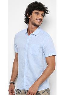 Camisa Pacific Blue Manga Curta Masculina - Masculino