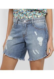 Bermudas Biotipo Feminino Bermuda Jeans Fem 21546 - Feminino