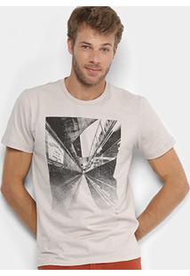 Camiseta Forum Estampada Masculina - Masculino-Bege