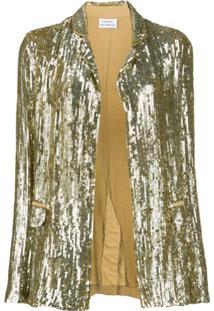 P.A.R.O.S.H. Sequinned Blazer - Dourado