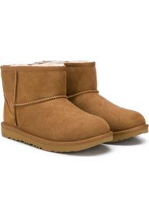 Ugg Australia Kids Ankle Boot Clássica - Marrom