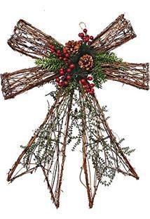 Laço Rústico Decoração Natal Verde