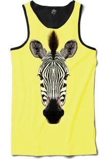Regata Bsc Cara De Zebra Sublimada Amarelo