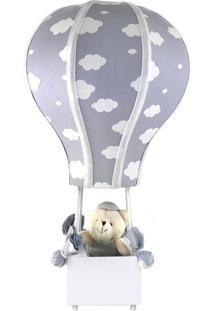 Abajur Balãozinho Cintura Urso Nuvem Cinza Quarto Bebê Infantil Menino Menina