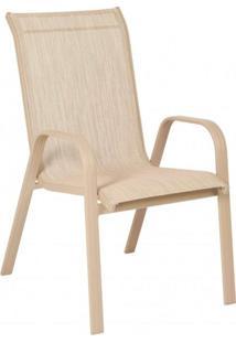 Cadeira Empilhável Summer Slim Mestra Móveis Alumínio/Cinza Urbano